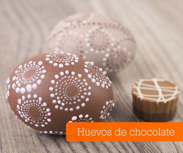 Cómo hacer huevos de pascua de chocolate
