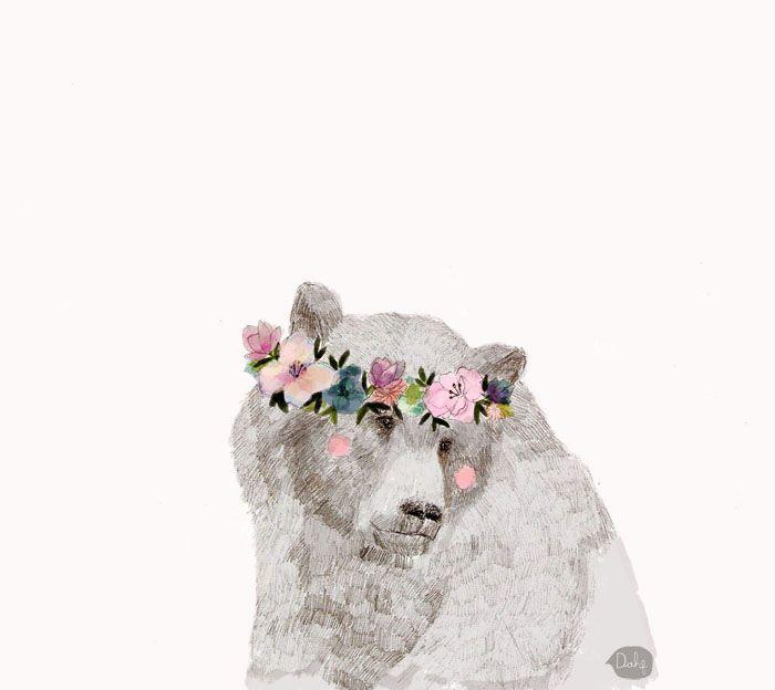 A beautiful bear by Daniela Dahf Henriquez.