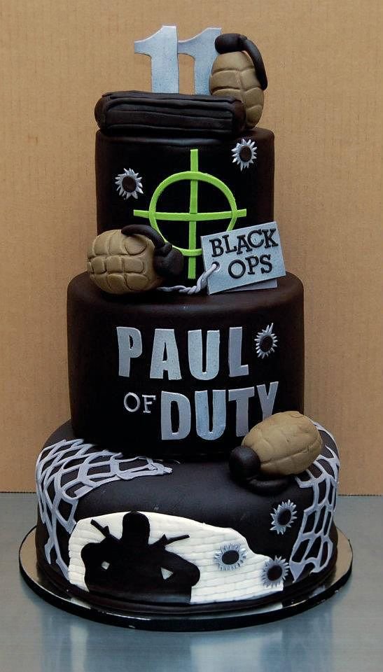 Cool Video Game Themed Cakes - Call of Duty Xbox Birthday Party Ideas