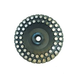 This 5-inch durable diamond cup wheel is built for grinding cured concrete, hard brick/block and hard granite. This cup wheel fits most angle grinders to help you power through project after project. Diamond grit outlasts traditional abrasives.  Use wet or dry.