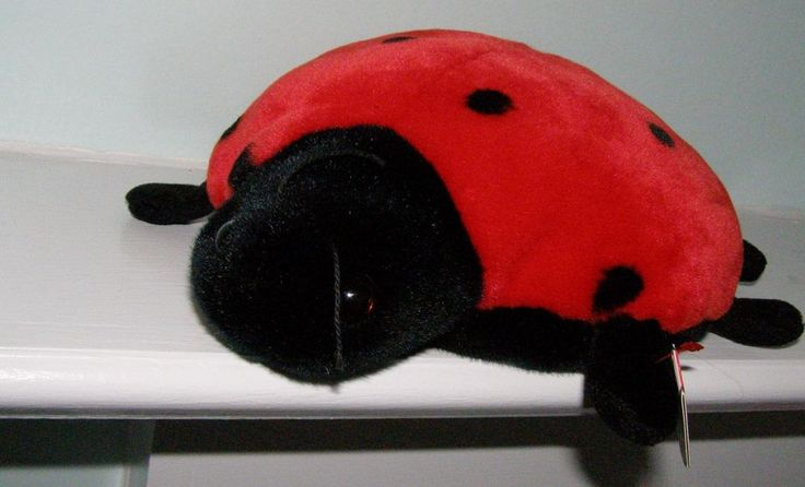 TY Lucky The Beanie Buddies Lady Bug Collection 11 Spots Retired Plush Toy NWT #Ty