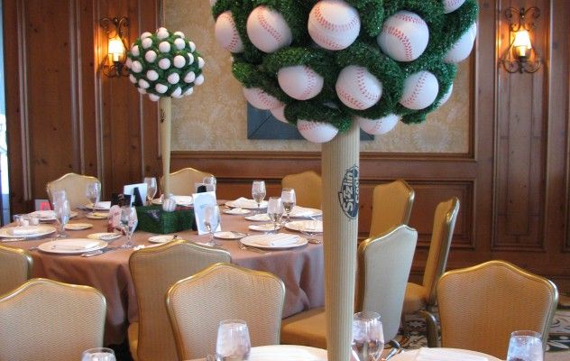 Baseball Topiary Centerpiece Decor for Banquet/Party