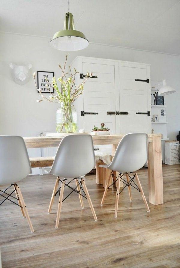 Interior Design Ideas Wood floor design in the kitchen