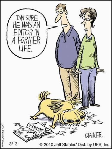 Mystery Fanfare: Cartoon of the Day: Editor