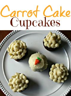 Carrot cake does taste best in cupcake form…don'tcha think? Homemade Carrot Cake Cupcakes - FamilyFreshMeals.com