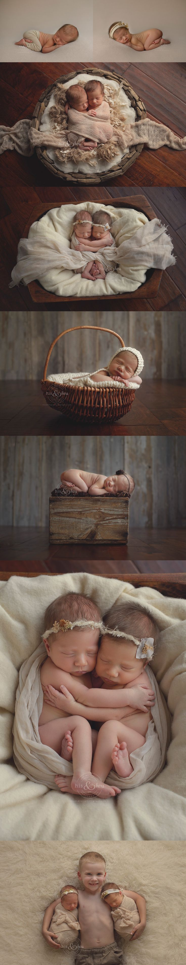 identical twins newborn 10 days new | Newborn photographer, Darcy Milder | His…