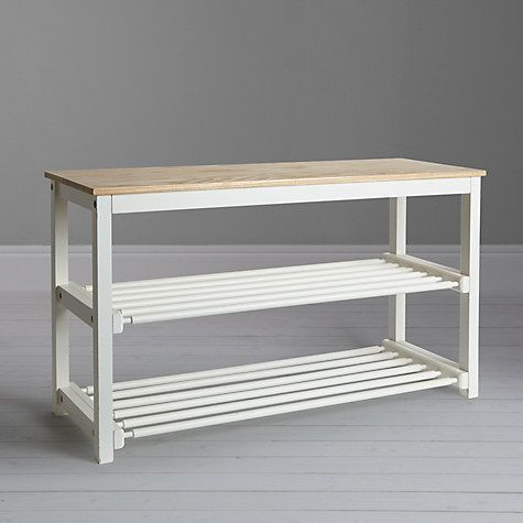 Buy John Lewis Croft Collection Shoe Rack, Lily White Online at johnlewis.com