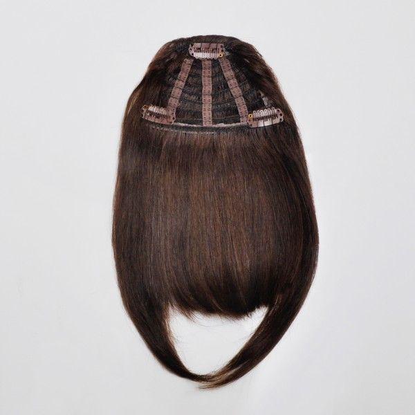 Frange à clips en cheveux naturels. Facile à coiffer, donne du volume aux cheveux clairsemés et apporte une touche de nouveauté à votre style. https://www.eva-extensions.com/franges-clips/frange-a-clip/frange-a-clip-chatain-fonce-nouvelle-collection-detail.html  #frange #frangeaclip #extensionscheveux