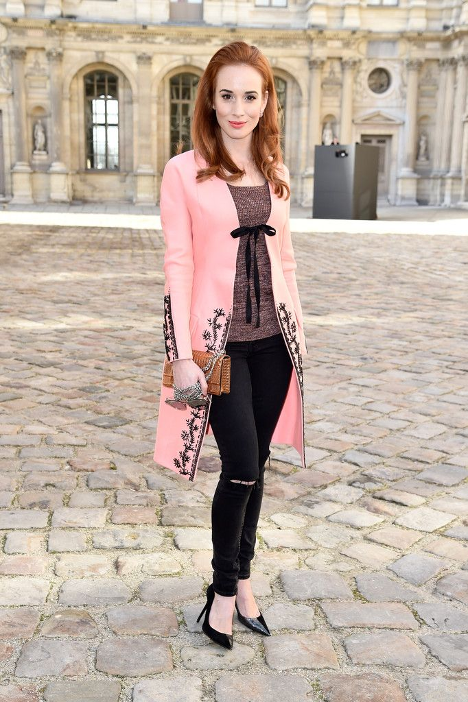 Tatiana Pauhofova attends the Christian Dior show as part of the Paris Fashion Week Womenswear Fall/Winter 2015/2016 on March 6, 2015 in Paris, France.