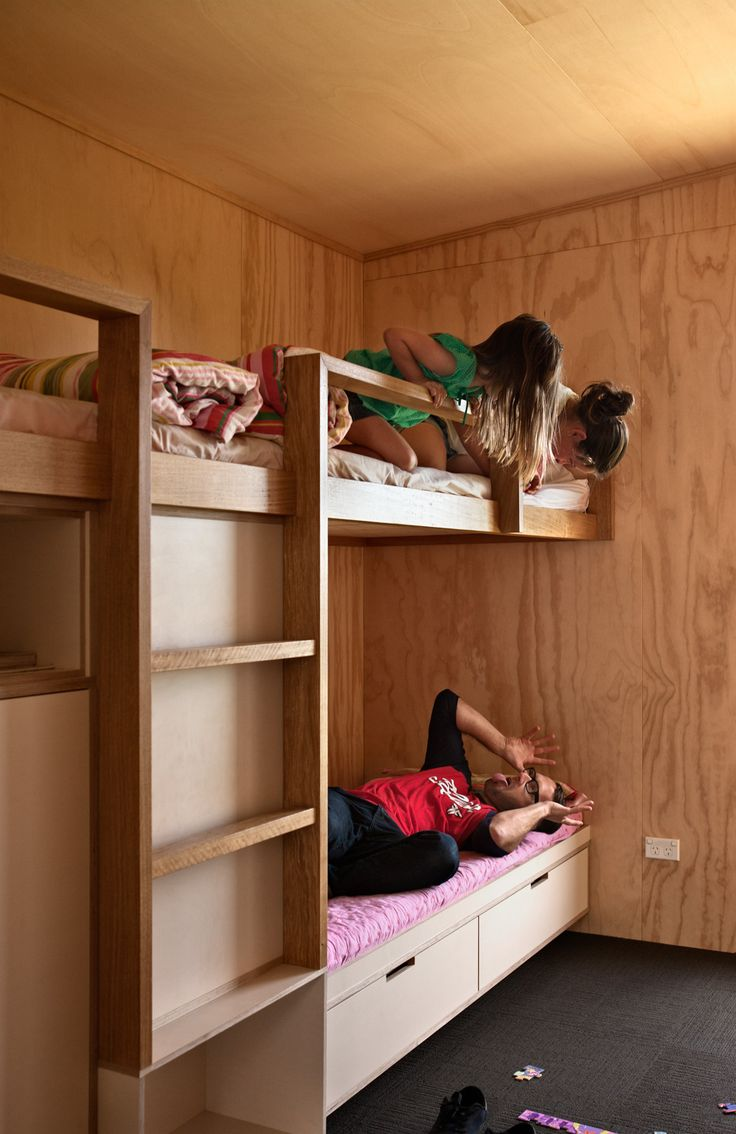 Plywood  OMG Plywood  Bunk beds built in Prefab Built