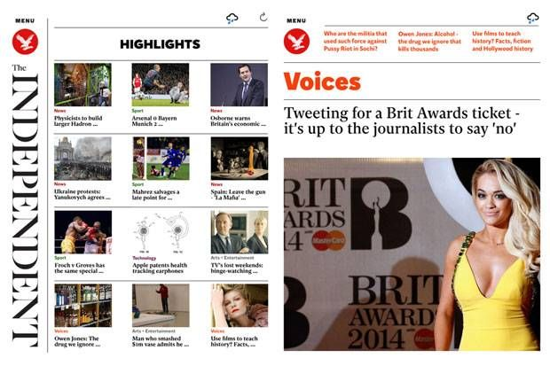 """""""The Independent has unveiled a unique app based on reader feedback that combines the best of newspaper design with digital interactivity, making the most of tablets or smartphone technology. The app is available to download on iPad and Kindle Fire today with iPhone and Android to follow."""" - via The Independent"""