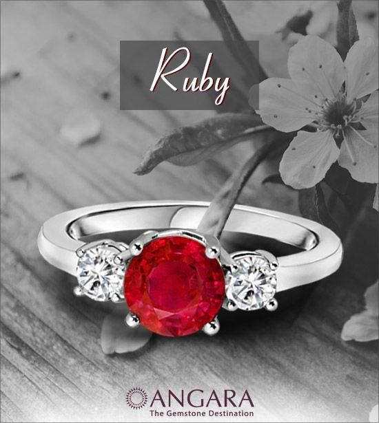 #Ruby #Diamond #ThreeStoneRing