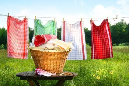Green your laundry room.: Green Clean, Clothing Line, Households, Laundry Detergent, Laundry Rooms, Clotheslines Art, Tips, Laundry Baskets, Hampers