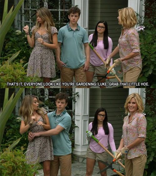 Modern Family banter...some of the best, funniest writing I've ever encountered. Always makes me laugh out loud
