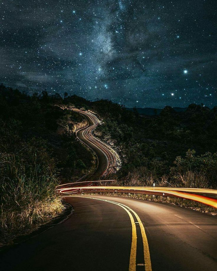 Night street night-Sky dark stars