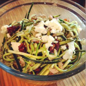 Mediterranean Zucchini & Pasta Noodles