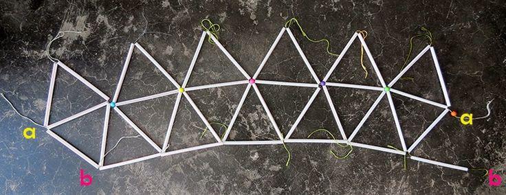 DIY Straws lampshade | Ohoh Blog - diy and crafts