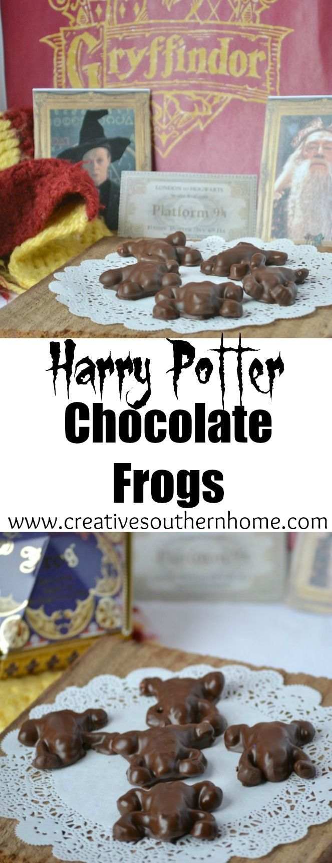 Easy way to make magical Harry Potter Chocolate Frogs.