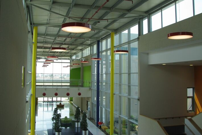 Ajman Academy, HUGE #lighting fixture http://www.halla.eu/reference/ajman-academy.html