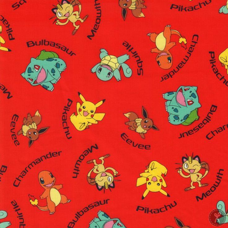 Pokémon Name Toss Fabric - Red