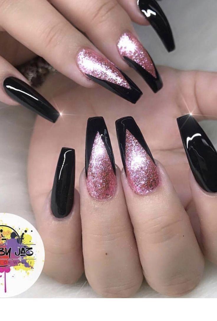 black acrylic nails ideas