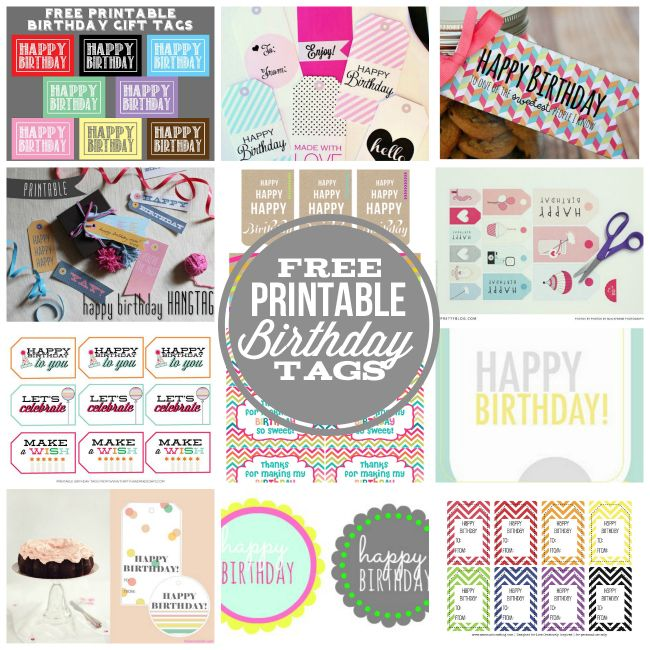 Need A Cute Tags To Attach To A Fun Birthday Gift? I Collected Over 10 Of My Favorite Free