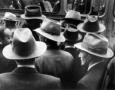 """William R. Heick, Hats, 1952; gelatin silver print, 8 x 10""""; Collection SFMOMA, Gift of the artist; © William Heick"""