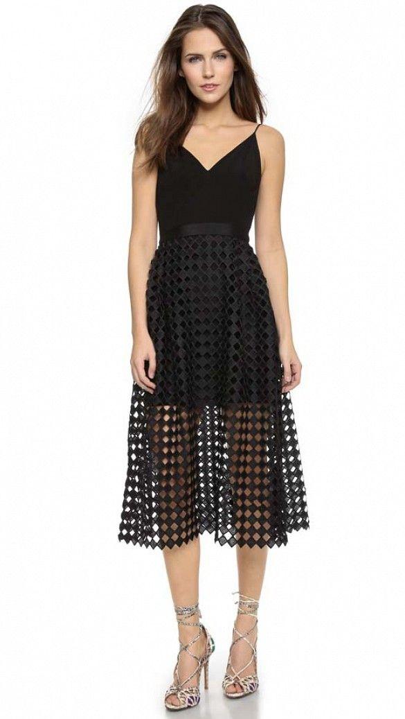 Cynthia Rowley V Back Dress in black