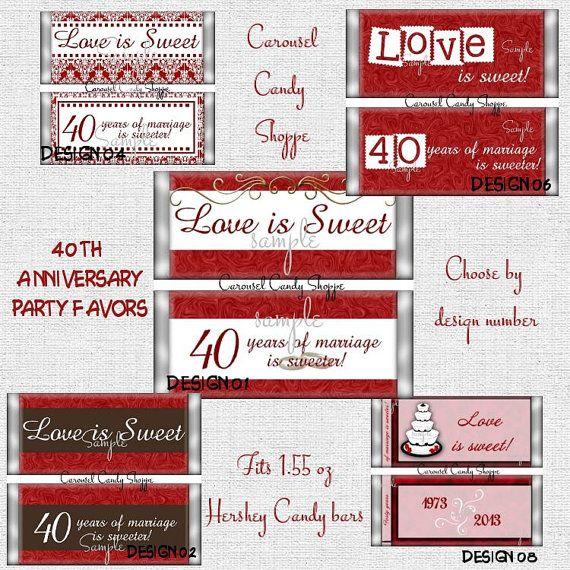 Love is Sweet 40th Wedding Anniversary by carouselcandyshoppe, $37.50