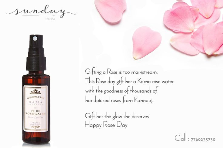 To know more about the goodness of rose and the special treatments we have for you, Visit Sunday the Spa and gift yourself a pampered Rose day. We are making it special, so should you. Love, care & cure, Sunday- theSpa. #sundaythespa #roseday #gifts #valentinesday #organicspa #kamaayurveda #kannauj