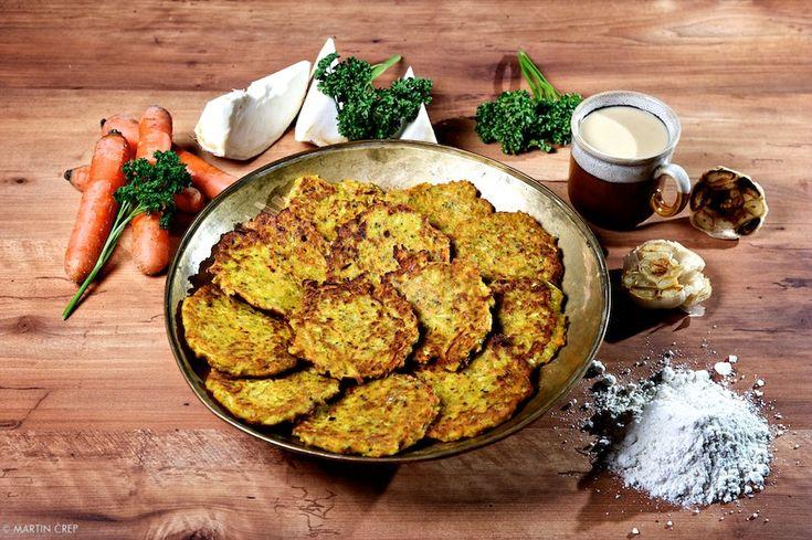 Pečené zelerovo – mrkvové placky