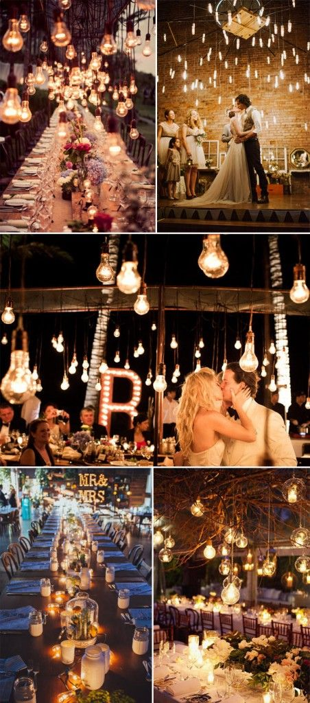 wedding edison bulbs | top 5 rustic lighting ideas for wedding receptions candle lighting ...