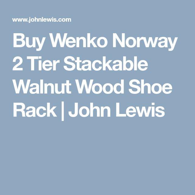 Buy Wenko Norway 2 Tier Stackable Walnut Wood Shoe Rack | John Lewis