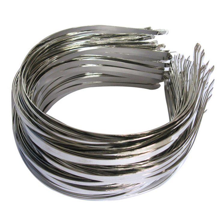100 Pieces/Lot Wholesale 5mm Metal Hair Hoops Silver Plain Hairbands Headbands For Girls Kids Women DIY Hair Accessories