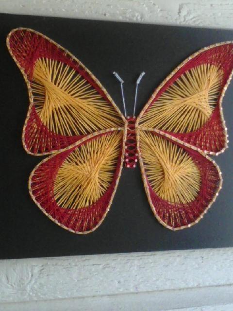 String art butterfly