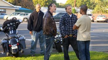 On the set: 'Sons of Anarchy'