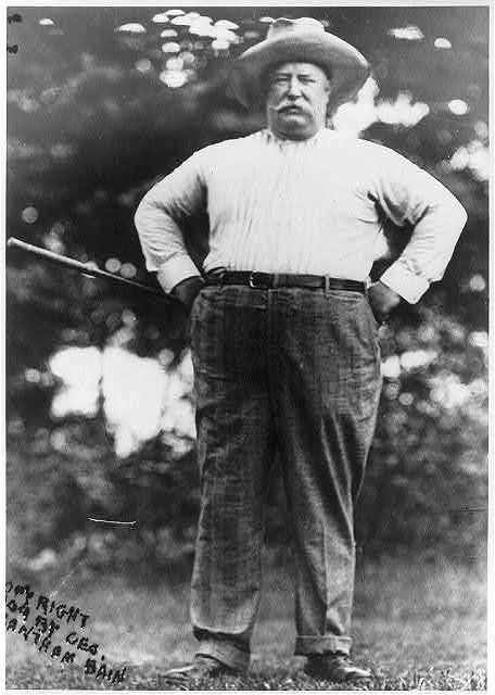 William Howard Taft, Pres. U.S., 1857-1930 First President to use automobiles instead of horses.