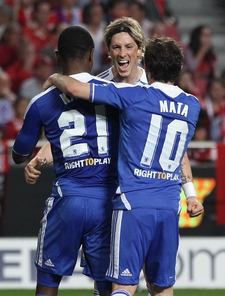 Torres, Kalou & Mata - SL Benfica 0-1 Chelsea FC