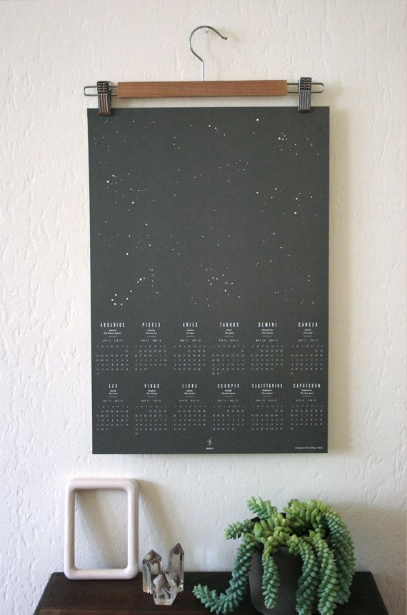 2012 Astrology Wall Calendar