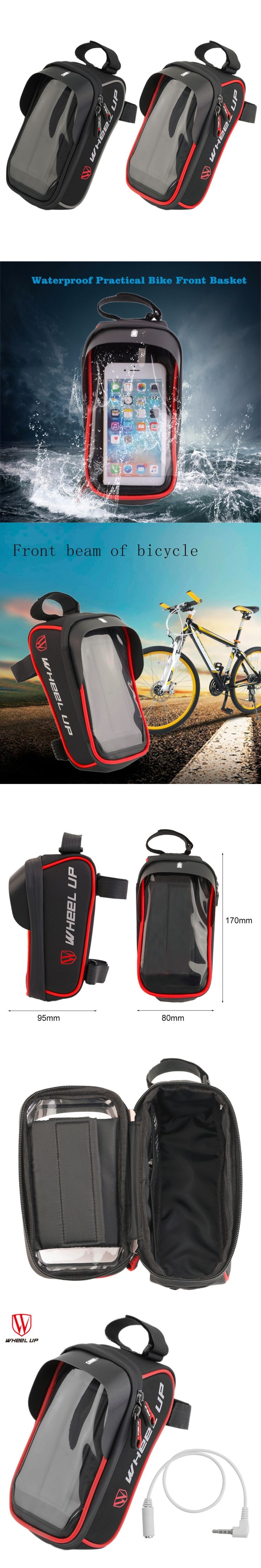 Wheel Up Waterproof Practical Bicycle Front Basket Pannier Frame Tube Handlebar Bag Pouch For Bike Riding Cycling Accessories