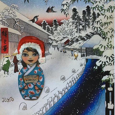 Joyjo White Christmas and Hiroshige Artprint