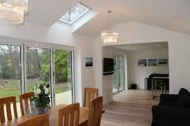 Image result for modern extension with skylights and vaulted ceiling