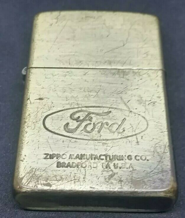 1987 Vintage Zippo Lighter Ford Advertising Zippo Zippo Lighter Ebay
