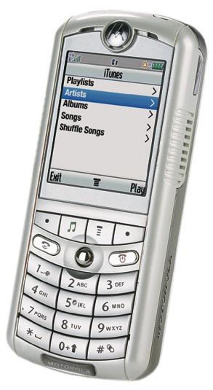 Motorola ROKR E1 (the 100 song capacity iTunes Phone) (2005)