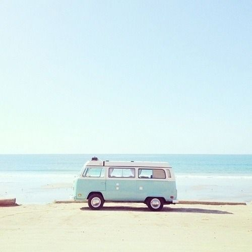 car, pretty, inspiring, sea, summer, fashion, vintage, hippie, , van, volkswagen, add more tags,