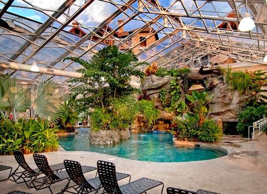 Biosphere pool complex at Crystal Springs Resort (Vernon, NJ) - ResortsandLodges.com #travel #pool