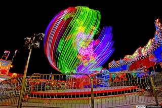 Crazy Spinning Ride at South Florida Fair Grounds