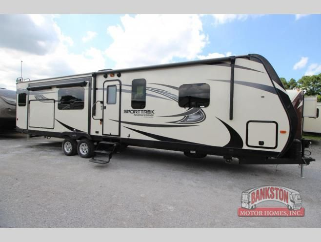 New 2017 Venture Rv Sporttrek Touring Edition 343vik Travel Trailer At Bankston Motor Homes Huntsville Al 107105 Rv Travel Recreational Vehicles Touring Truck campers are popular due to how easy they are to removable truck campers allow full use of your truck while camping, and are more. pinterest