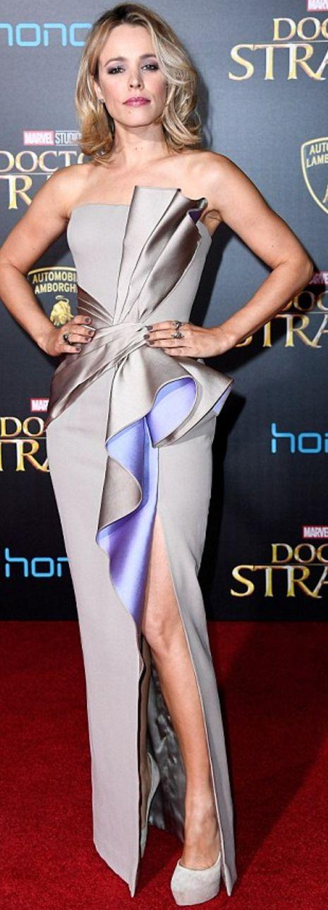 Rachel Mcadams wearing H.Stern and Gianni Versace