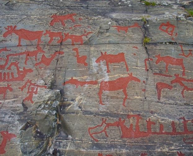 Lillforshallan, Namforsen, Stone Age: Elk Image, Northern Sweden, Bronze Age, Common Stars, Facebook Like, Age Facebook, Common Image, Caves Paintings, Rocks Art
